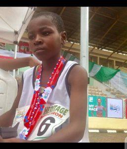 11-year-old marathoner sets record